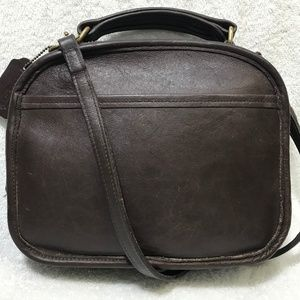 Vintage Coach #9991 Brown Leather Lunchbox Crossbo